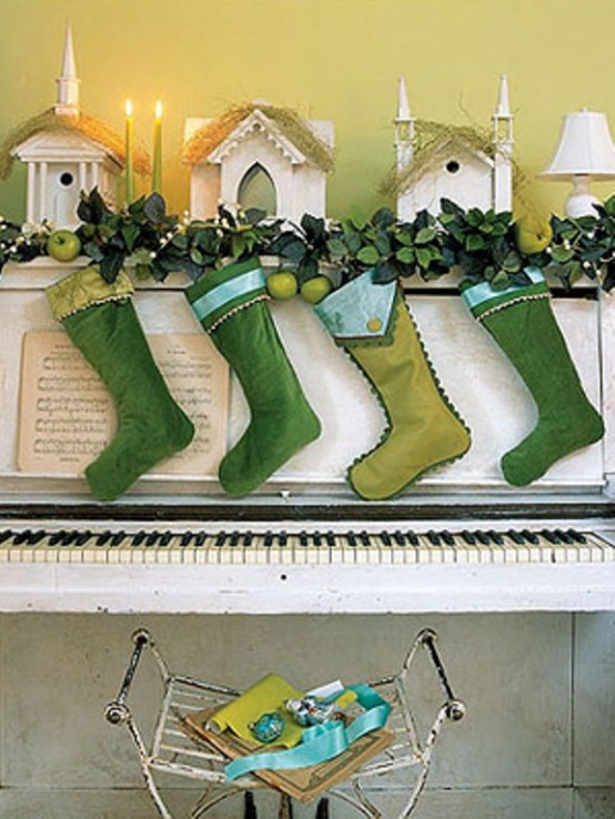 Cool Green Christmas Decor