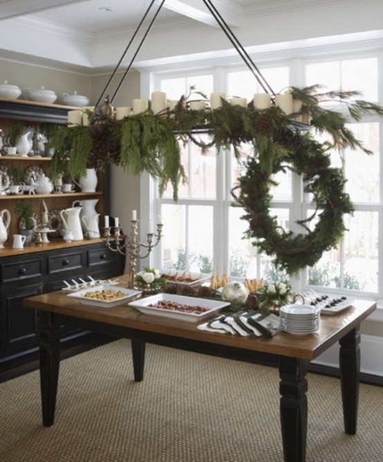 cool green christmas decor - Green Christmas Table Decorations