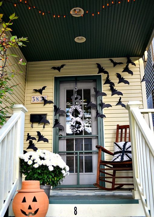 cool door decorating ideas. Cool Halloween Front Door Decor Ideas Decorating A