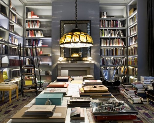 10 outstanding home library design ideas digsdigs for Modern house design books