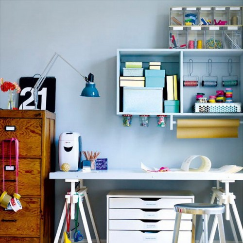 43 cool and thoughtful home office storage ideas digsdigs Home office organization ideas