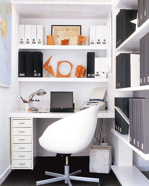 interesting 18 photos office storage ideas in your home | 43 Cool And Thoughtful Home Office Storage Ideas - DigsDigs