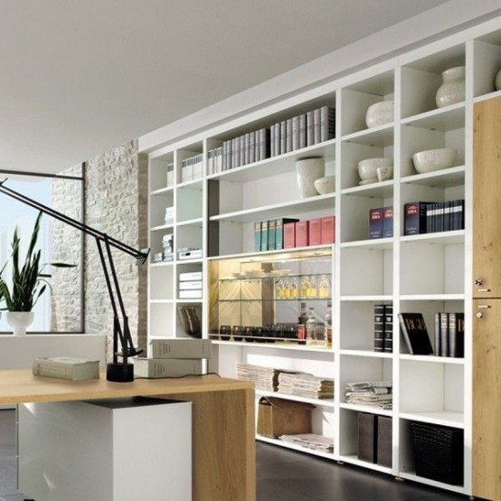 43 Cool And Thoughtful Home Office Storage Ideas