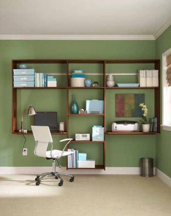 Cool Home Office Ideas Part - 47: Cool Home Office Storge Ideas