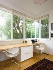 Fabulous Modern Home Office With View Somerville Addition