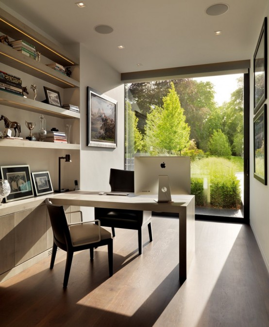 20 Trendy Ideas For A Home Office With Skylights: 37 Cool Home Offices With Stunning Views