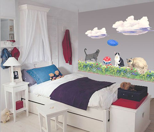 more than 50 cool ideas for cat themed room design digsdigs. Black Bedroom Furniture Sets. Home Design Ideas