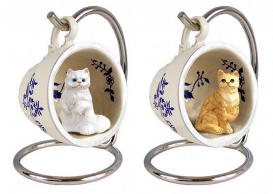 ديكورات على شكل قطط