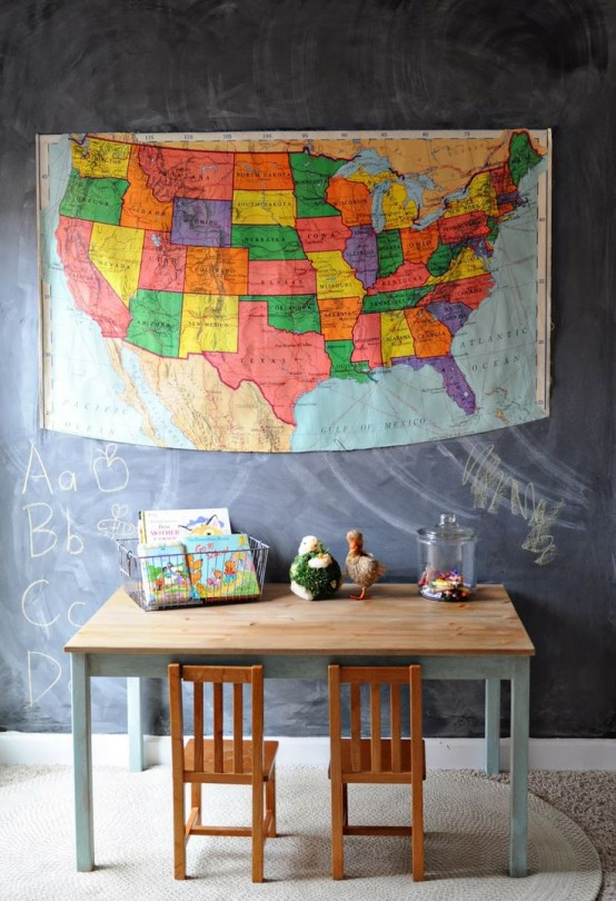 The table is perfect for a kids playroom cuz you can always repaint it.
