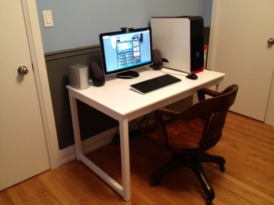 Paint in glossy white and use the table as a desk.