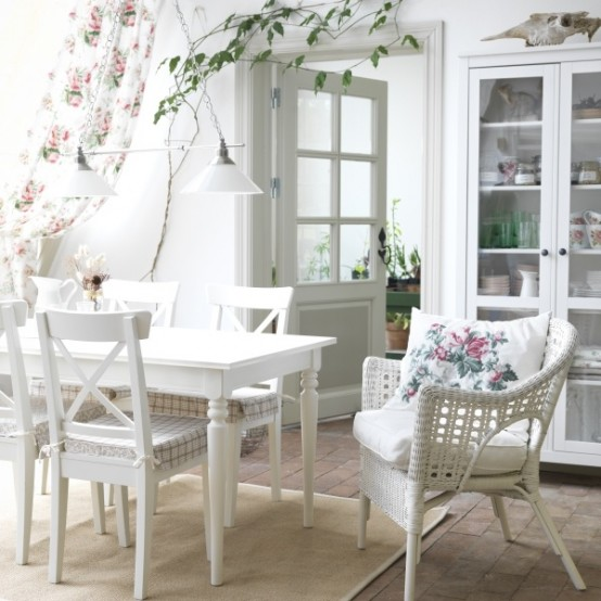 The table looks great in pure white interiors if you paint it accordingly.