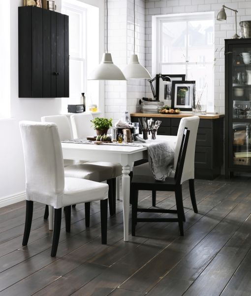 To fit the table into a contemporary interior paint it in pure white.