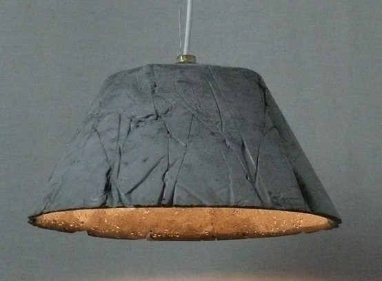 Cool Industrial Concrete Lights: Catherina 30 Knitter