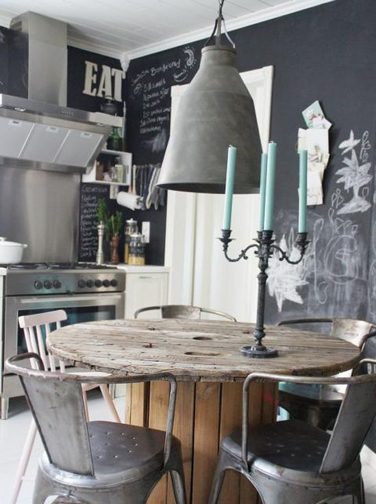 35 cool industrial dining rooms and zones digsdigs for Cool dining rooms