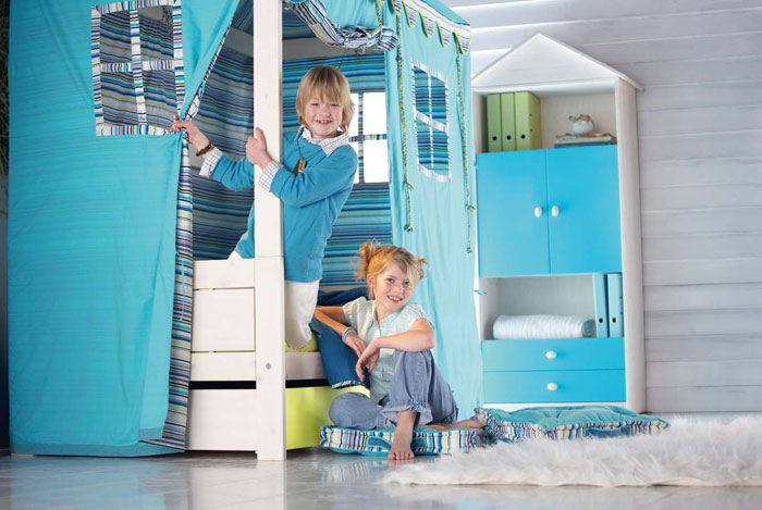 cool kids room beds with nice tents by life time digsdigs. Black Bedroom Furniture Sets. Home Design Ideas