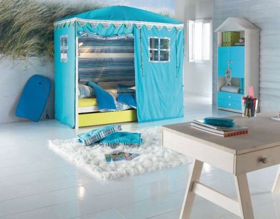 cool kids room beds with nice tents by life time digsdigs