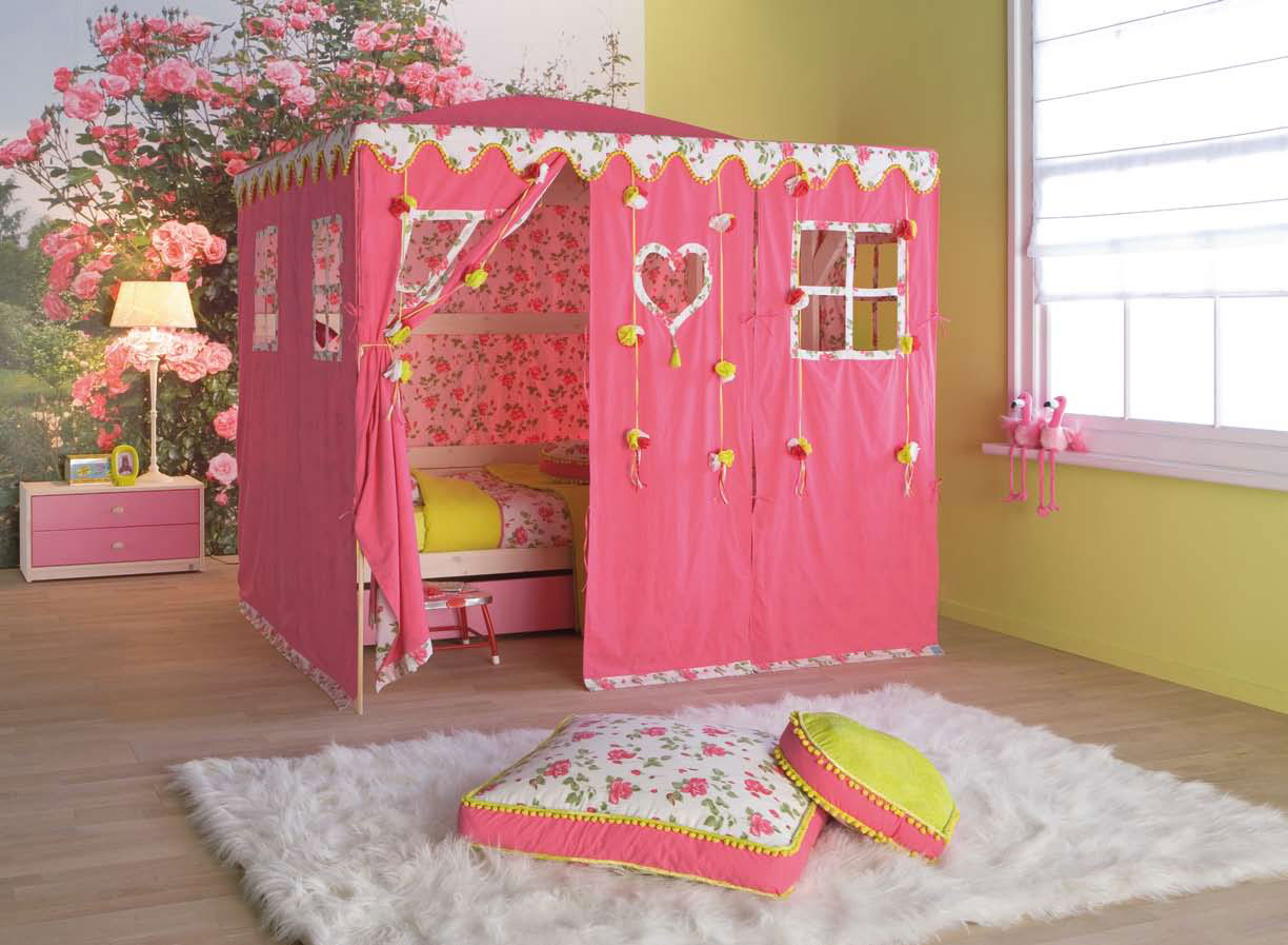 Hello kitty rooms for babies - Cool Kids Room Beds With Nice Tents By Life Time Digsdigs
