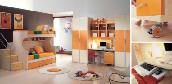 15 cool kids rooms designs digsdigs for Cool kids bedroom designs