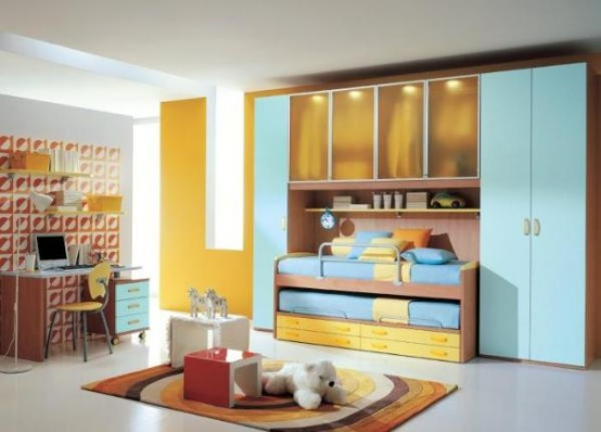 15 cool kids rooms designs digsdigs for Different bedroom styles