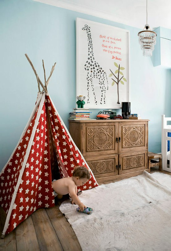 Cool Kids Rooms With Play Tents & 33 Cool Kids Play Rooms With Play Tents - DigsDigs