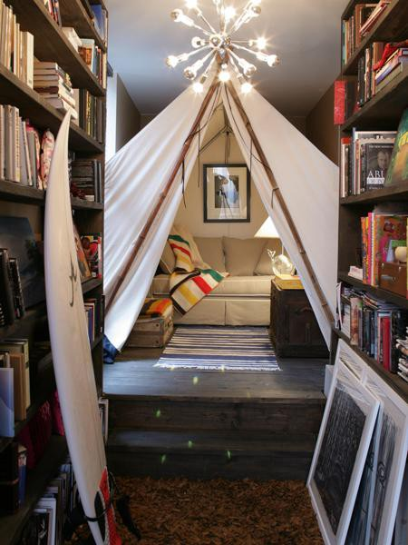 attic kitchen ideas - 33 Cool Kids Play Rooms With Play Tents DigsDigs