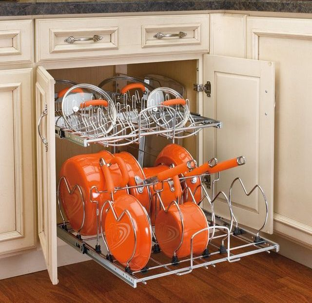 58 cool kitchen pots and lids storage ideas digsdigs for Storage ideas for the kitchen