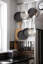 Cool Kitchen Pots And Lids Storage Ideas
