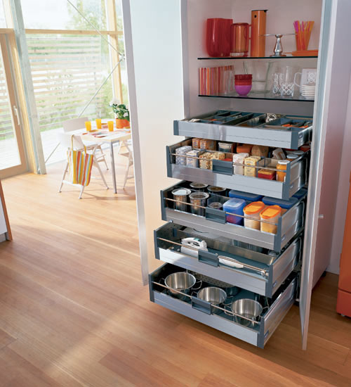 56 useful kitchen storage ideas digsdigs for Extra kitchen storage