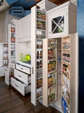 vertical and usual drawers in all the cabinets are great for storing everything you need