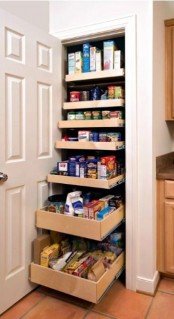 a built-in mini pantry with lots of drawers for holding and storing is ideal for any kitchen and can accommodate a lot of stuff