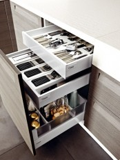 several drawers will help you accommodate various stuff you want – insert as many as you want into your cabinets