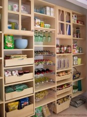 a large storage unit with open compartments, drawers, glass compartments is an awesome piece to store a lot of stuff