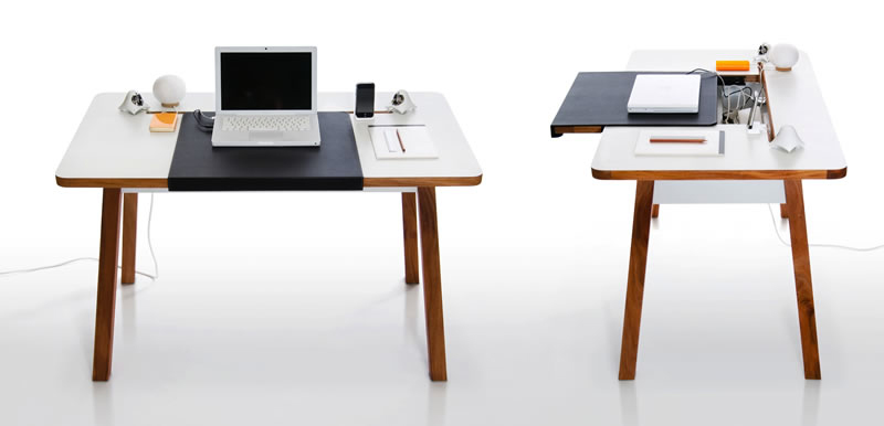 compact and stylish laptop desk for the home office with