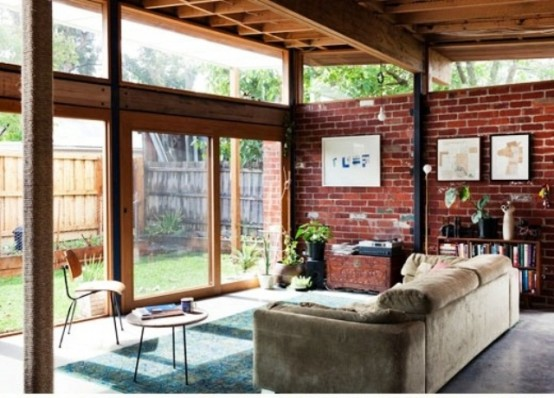 Cool Living Rooms With Brick Walls Part 48