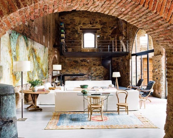 Cool Living Rooms With Brick Walls