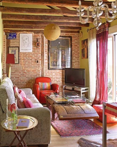 Cool Wall Ideas For Living Room: 59 Cool Living Rooms With Brick Walls