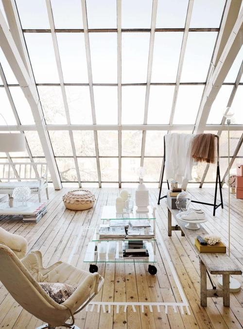 Cool Loft Designed As A Sunroom