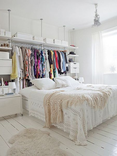 Picture Of cool makeshift closet ideas for any home  11