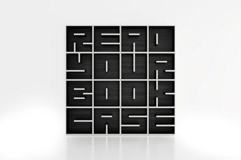 Cool minimalist bookshelf to read it digsdigs for Modern minimalist bookcase