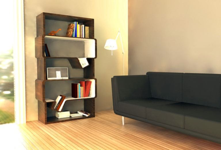 Cool Minimalist Book Shelves To Generate New Ideas
