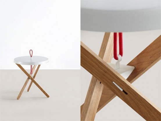 Cool Minimalist Interior With A Red Handle
