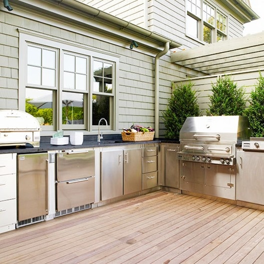 95 cool outdoor kitchen designs digsdigs for Deck kitchen ideas