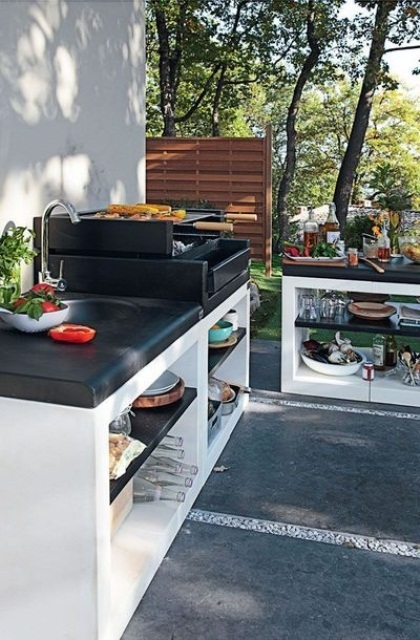 Grilling is a first thing that come in mind when you think about outdoor cooking. That's why you should thing about a built-in grill even before you start to design this area.