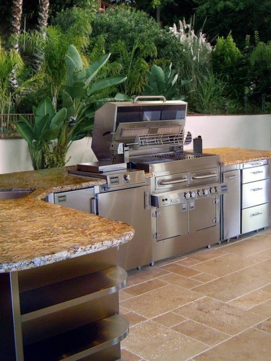 nice Outside Kitchen Designs Pictures #5: Cool Outdoor Kitchen Designs