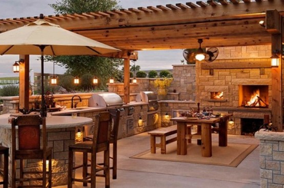 Outdoor Kitchen Pictures 95 cool outdoor kitchen designs - digsdigs