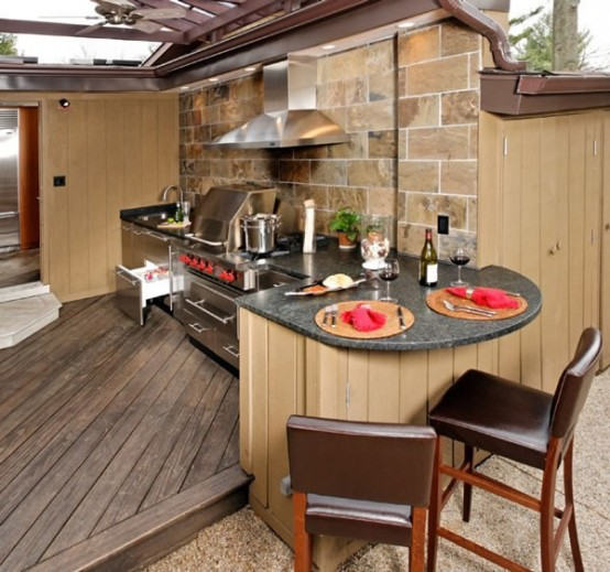Exceptional Cool Outdoor Kitchen Designs Nice Look
