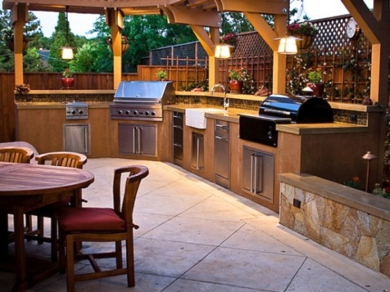 Outdoor Kitchen Designs Entrancing 95 Cool Outdoor Kitchen Designs  Digsdigs 2017