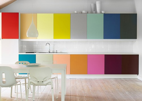 Cool Rainbow Kitchen