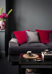 Cool Red And Grey Home Decor Ideas