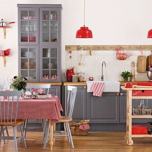39 cool red and grey home d cor ideas digsdigs Grey home decor pinterest